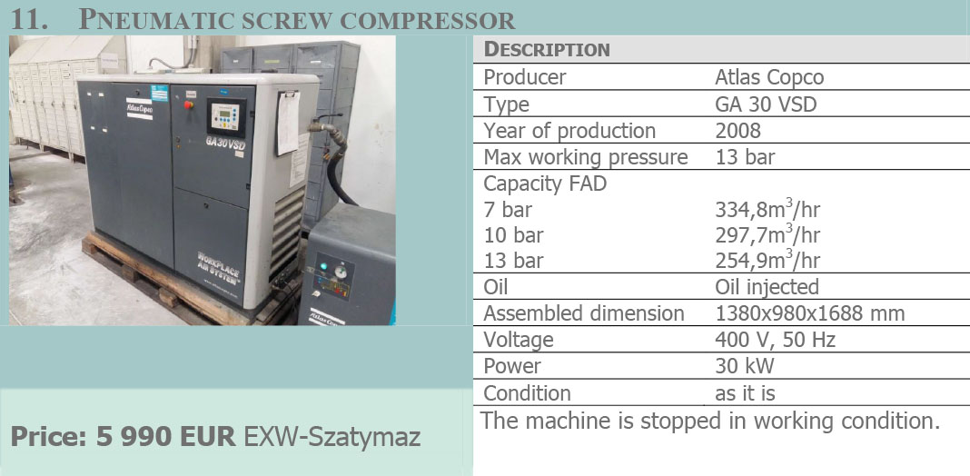 Used machines for sale