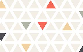 Printed glass railing triangle pattern