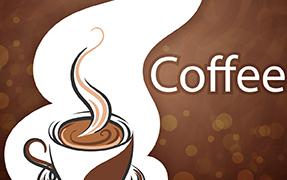 Printelt kültéri üveg cégtábla coffee