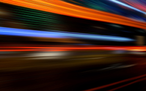 Printed glass railing night lights image