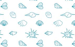 Printelt üveg zuhanykabin kagyló mintával